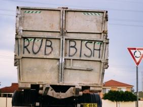 Rubbish truck in suburban western sydney